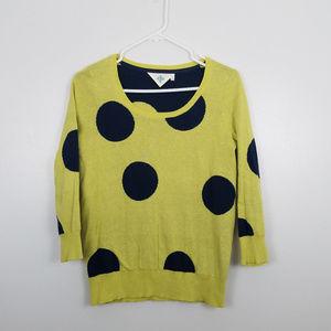 Anthropologie Monogram Polka Dot Pullover Sweater
